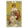 Kép 4/5 - Mini Golden Art Nouveau Tarot