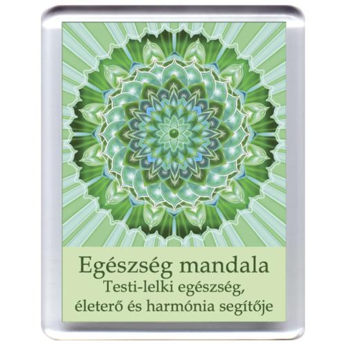 Testi-lelki egészség mandala - hűtőmágnes 5x7 cm