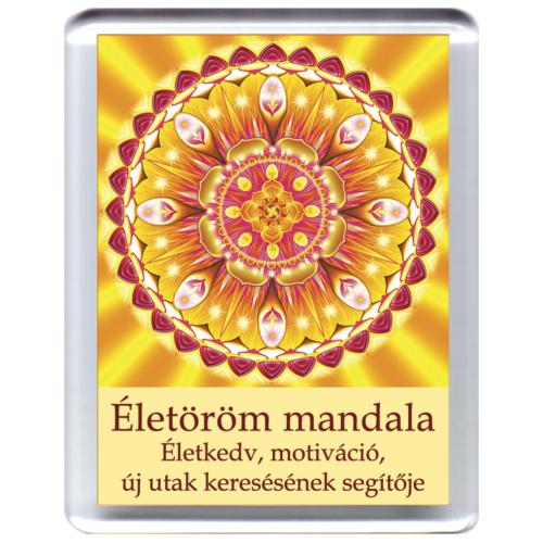 Életöröm mandala - hűtőmágnes 5x7 cm