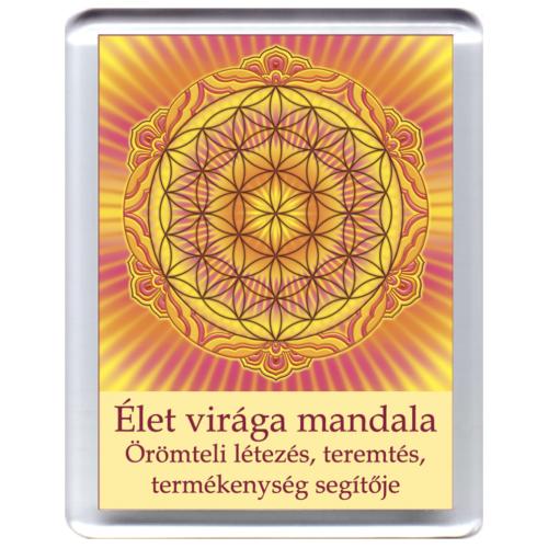 Életvirága - Genezis, teremtés, termékenység mandala - hűtőmágnes 5x7cm