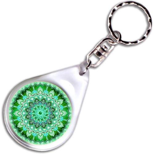 Testi-lelki egészség mandala – kulcstartó - 4 cm Ø