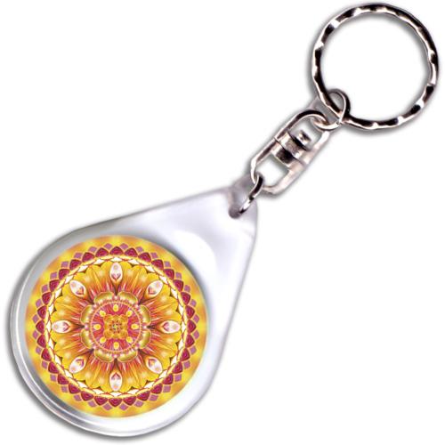 Életöröm mandala – kulcstartó - 4 cm Ø