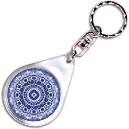 Karrier mandala – kulcstartó - 4 cm Ø