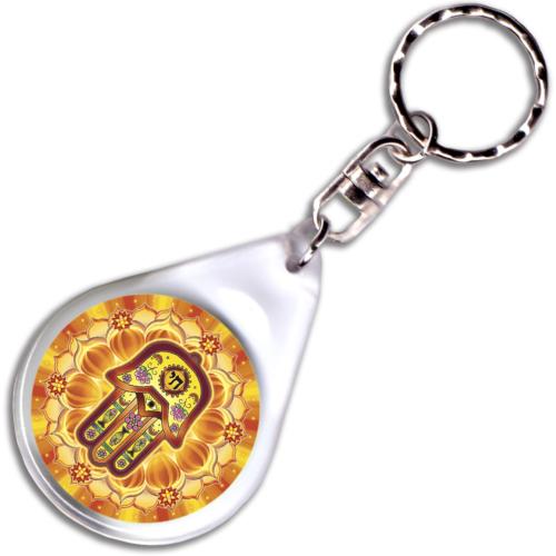 Védelmező mandala – kulcstartó - 4 cm Ø