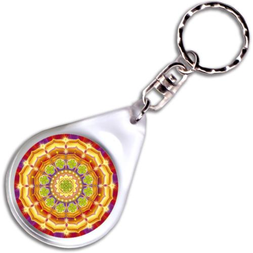 Szerencse mandala – kulcstartó - 4 cm Ø