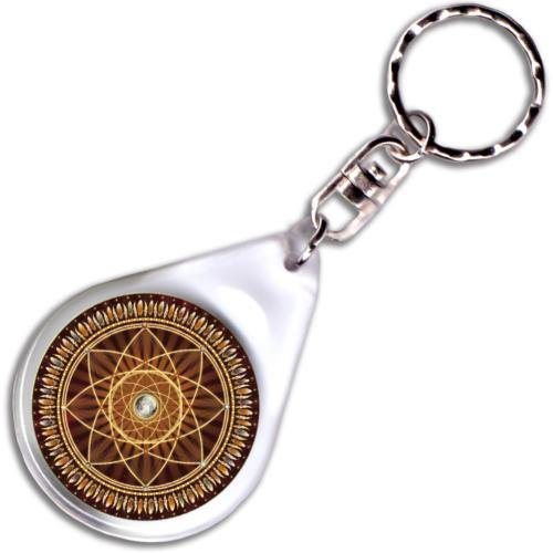 Álomcsapda mandala – kulcstartó - 4 cm Ø