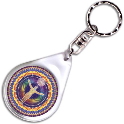UnioMystica – Misztikus Egység mandala – kulcstartó - 4 cm Ø