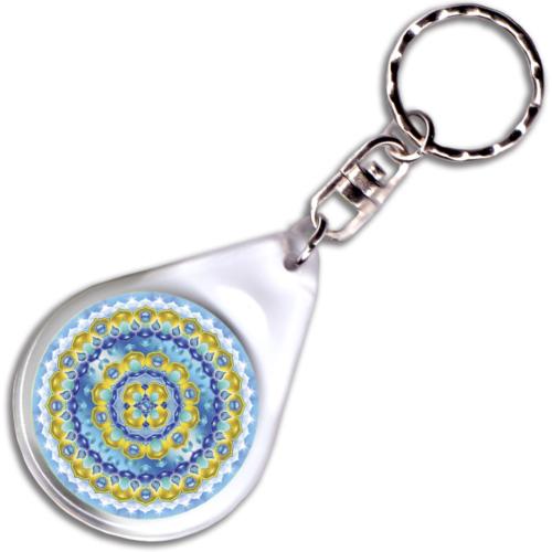 Elismerés mandala – kulcstartó - 4 cm Ø