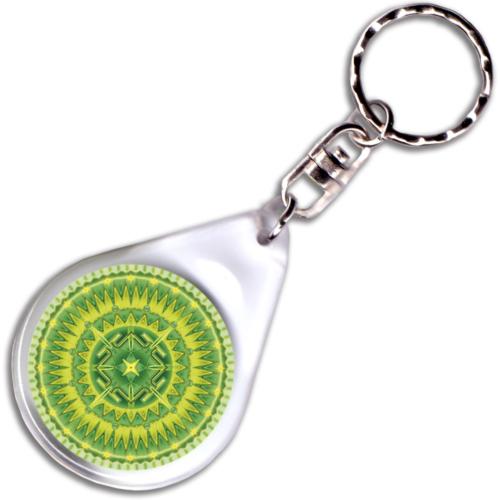 Sugárzó egészség mandala – kulcstartó - 4 cm Ø
