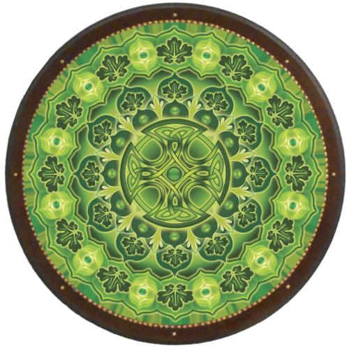 Egészség megőrzés és harmónia mandala - kör falikép 38 cm Ø