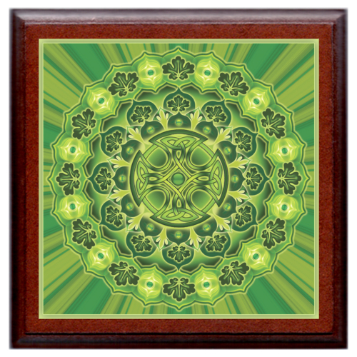 Egészség megőrzés és harmónia mandala - kis falikép 18x18 cm