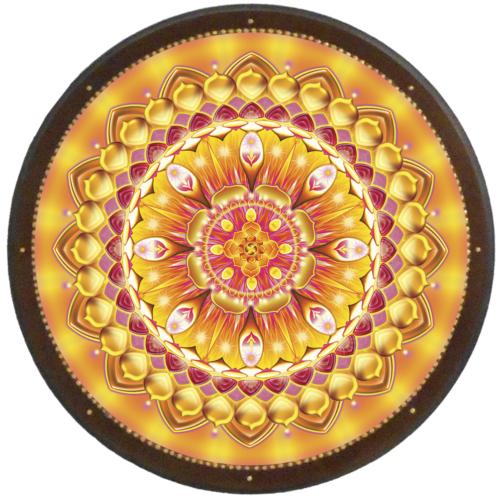 Életöröm mandala - kör falikép 38 cm Ø