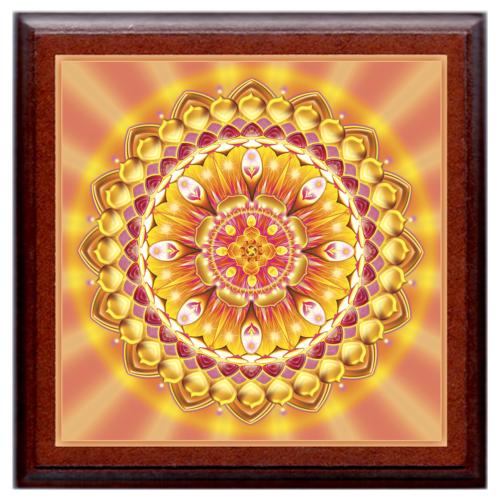 Életöröm mandala - kis falikép 18x18 cm