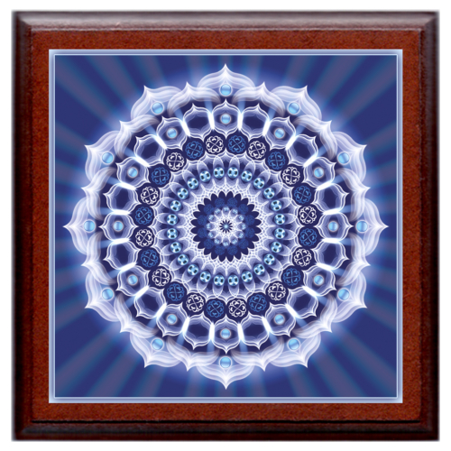 Karrier mandala - kis falikép 18x18 cm