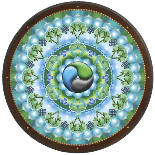 Gazdagság mandala - kör falikép 38 cm Ø