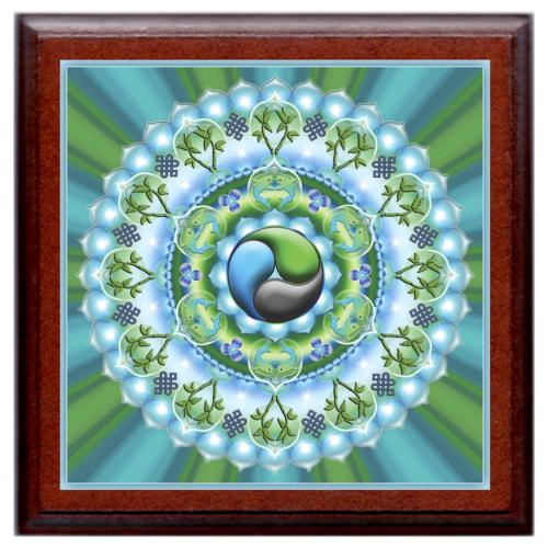 Gazdagság mandala - kis falikép 18x18 cm