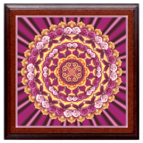 Szerelmi társtaláló mandala - kis falikép 18x18 cm