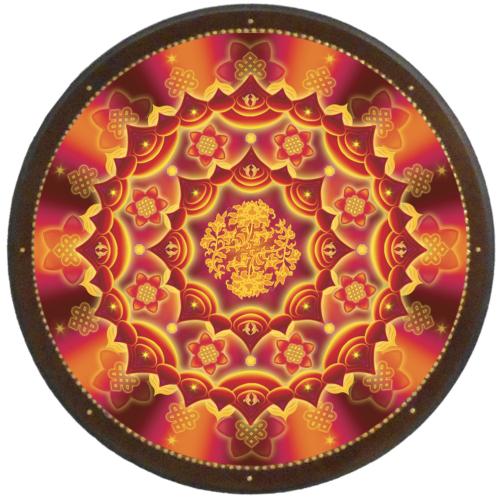 Szerelem, házasság és tartós párkapcsolat mandala - kör falikép 38 cm Ø