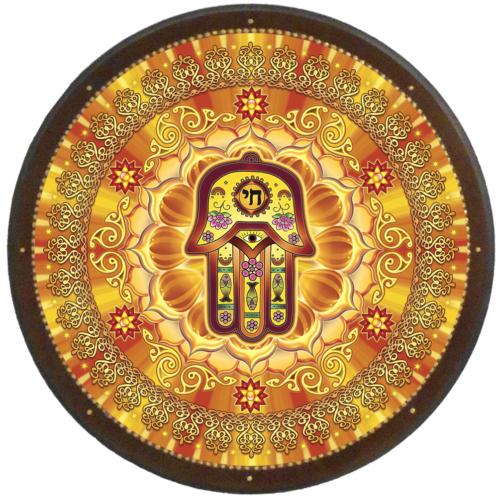 Védelmező mandala - kör falikép 38 cm Ø