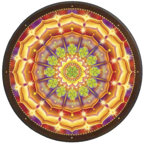 Szerencse mandala - kör falikép 38 cm Ø