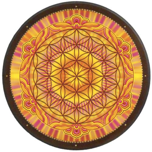 Életvirága - Genezis, teremtés, termékenység mandala - kör falikép 38 cm Ø