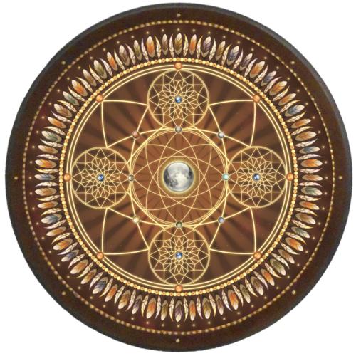 Álomcsapda mandala - kör falikép 38 cm Ø