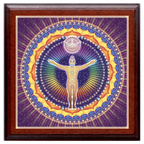 UnioMystica - Misztikus Egység mandala - kis falikép 18x18 cm