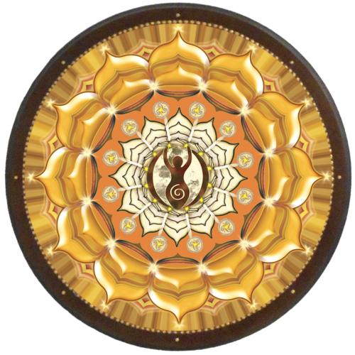 Termékenység mandala - kör falikép 38 cm Ø