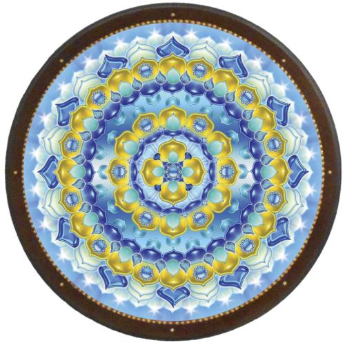 Elismerés mandala - kör falikép 38 cm Ø
