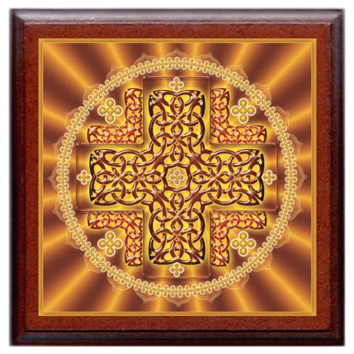 Oltalmazó mandala - kis falikép 18x18 cm