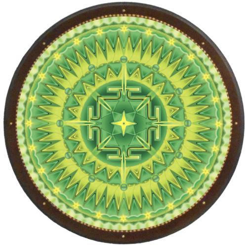 Sugárzó egészség mandala - kör falikép 38 cm Ø