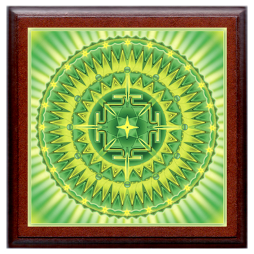 Sugárzó egészség mandala - kis falikép 18x18 cm